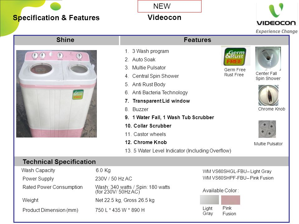 Specification & Features Videocon
