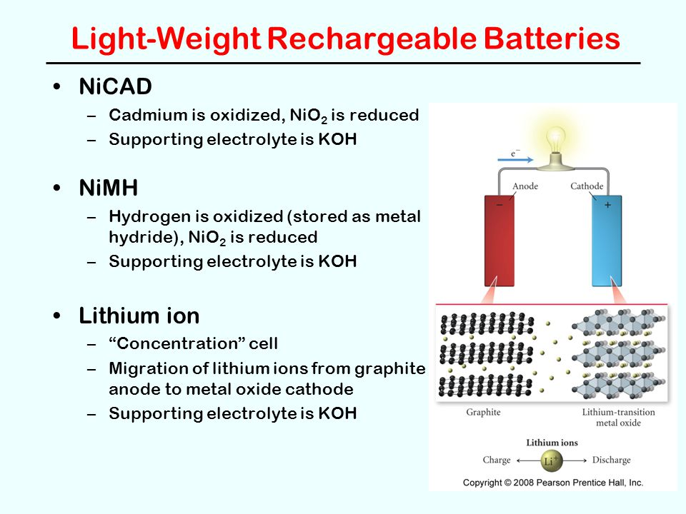 Light-Weight Rechargeable Batteries
