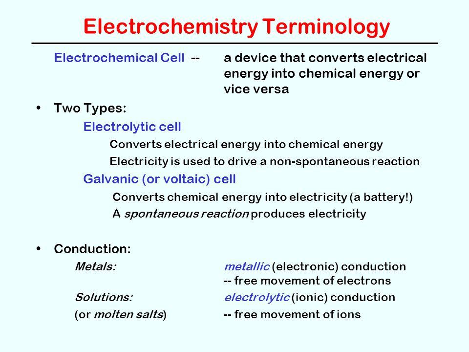 Electrochemistry Terminology