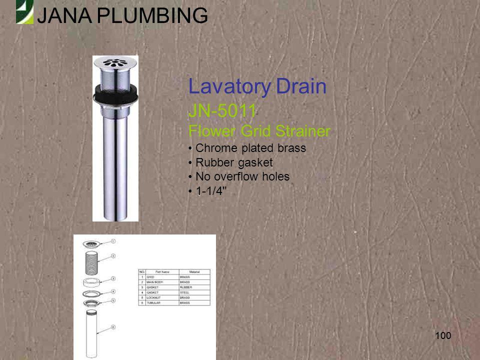 Lavatory Drain JN-5011 Flower Grid Strainer Chrome plated brass