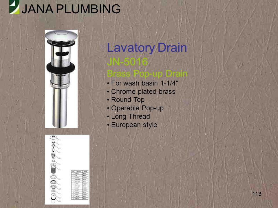 Lavatory Drain JN-5016 Brass Pop-up Drain For wash basin 1-1/4