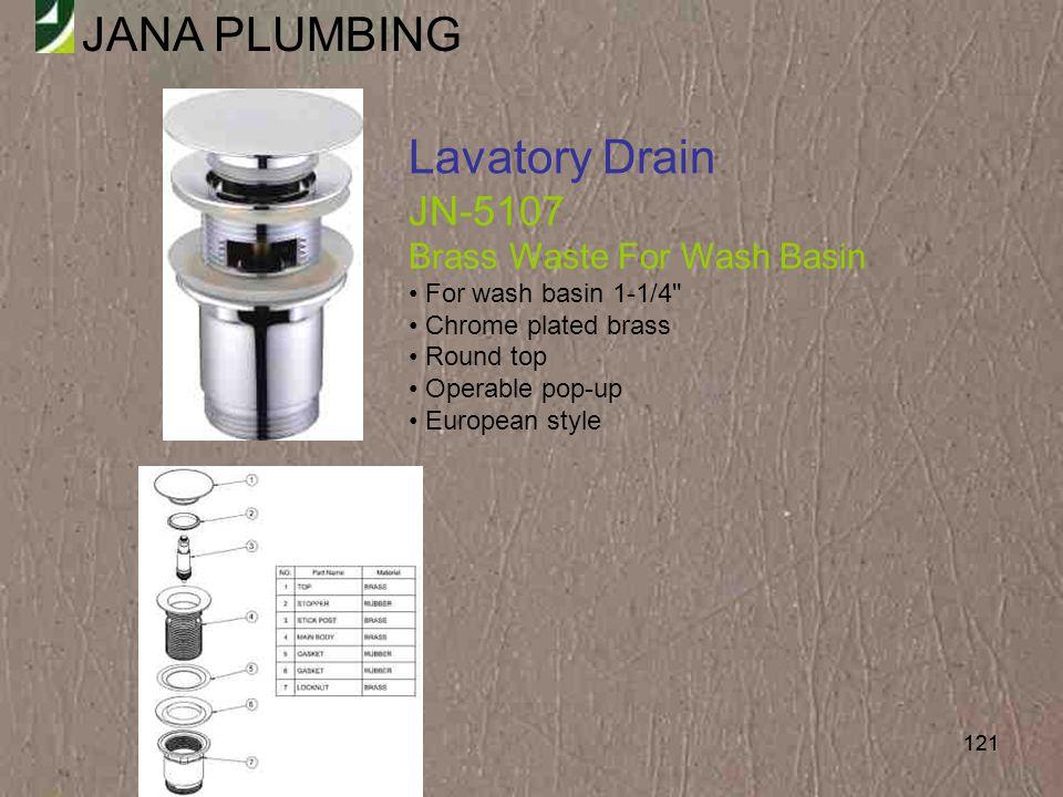 Lavatory Drain JN-5107 Brass Waste For Wash Basin