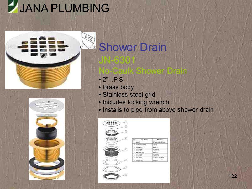 Shower Drain JN-6301 No-Caulk Shower Drain 2 I.P.S Brass body