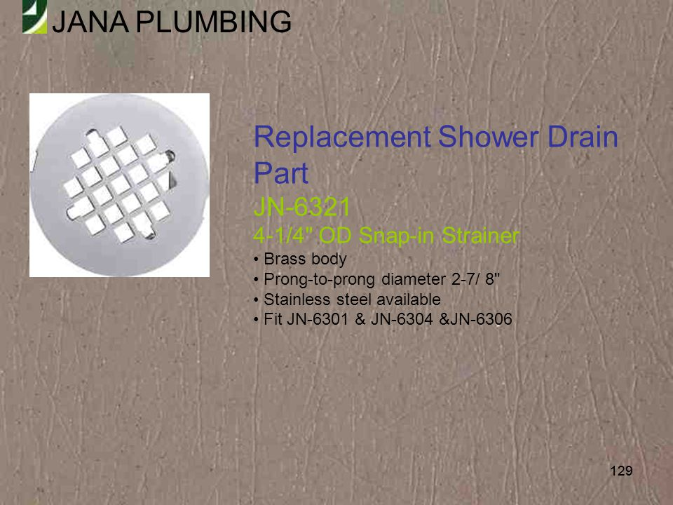 Replacement Shower Drain Part