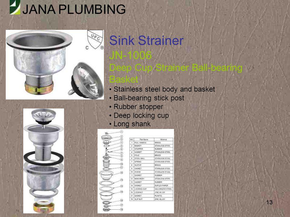 Sink Strainer JN-1006 Deep Cup Strainer Ball-bearing Basket