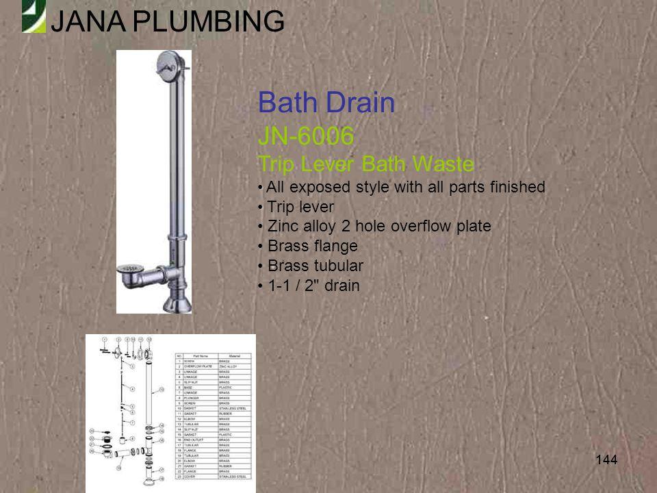 Bath Drain JN-6006 Trip Lever Bath Waste