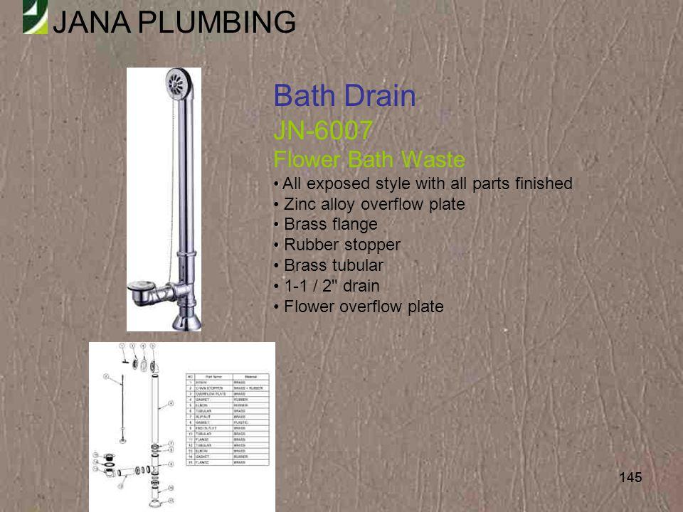 Bath Drain JN-6007 Flower Bath Waste