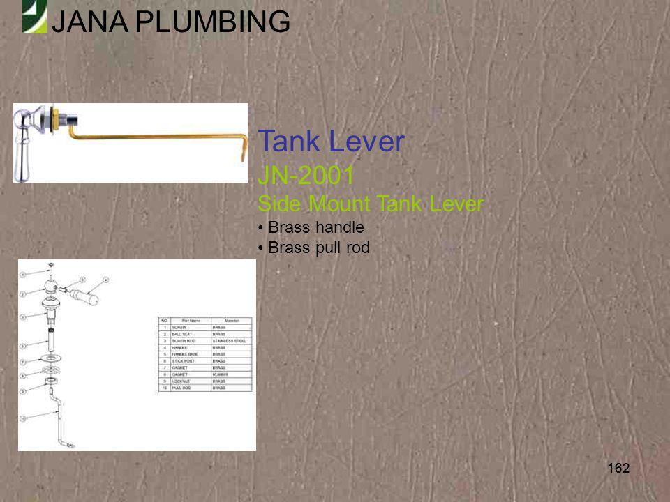Tank Lever JN-2001 Side Mount Tank Lever Brass handle Brass pull rod