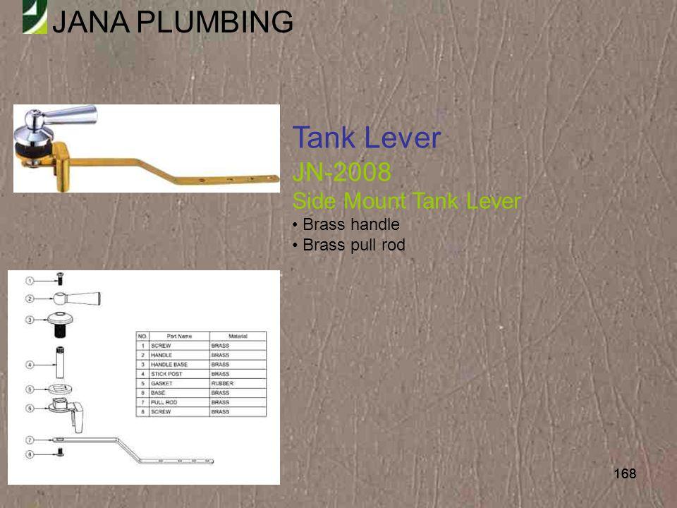 Tank Lever JN-2008 Side Mount Tank Lever Brass handle Brass pull rod