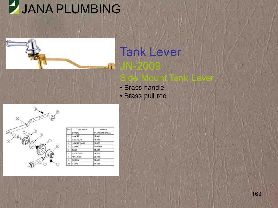 Tank Lever JN-2009 Side Mount Tank Lever Brass handle Brass pull rod