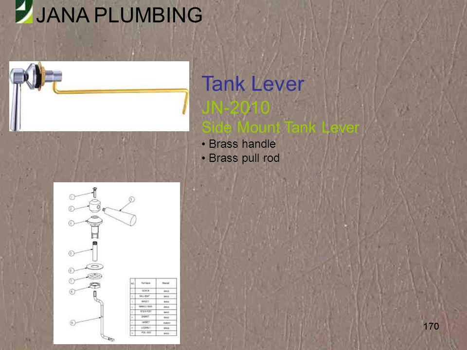 Tank Lever JN-2010 Side Mount Tank Lever Brass handle Brass pull rod