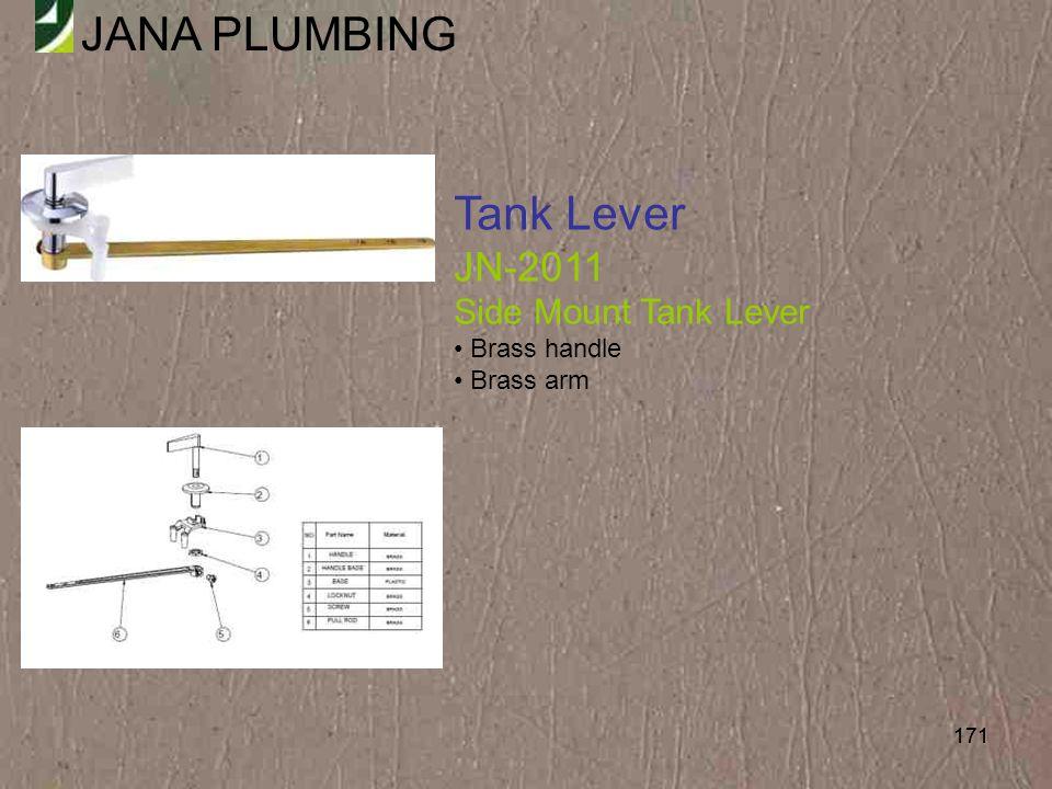 Tank Lever JN-2011 Side Mount Tank Lever Brass handle Brass arm 171