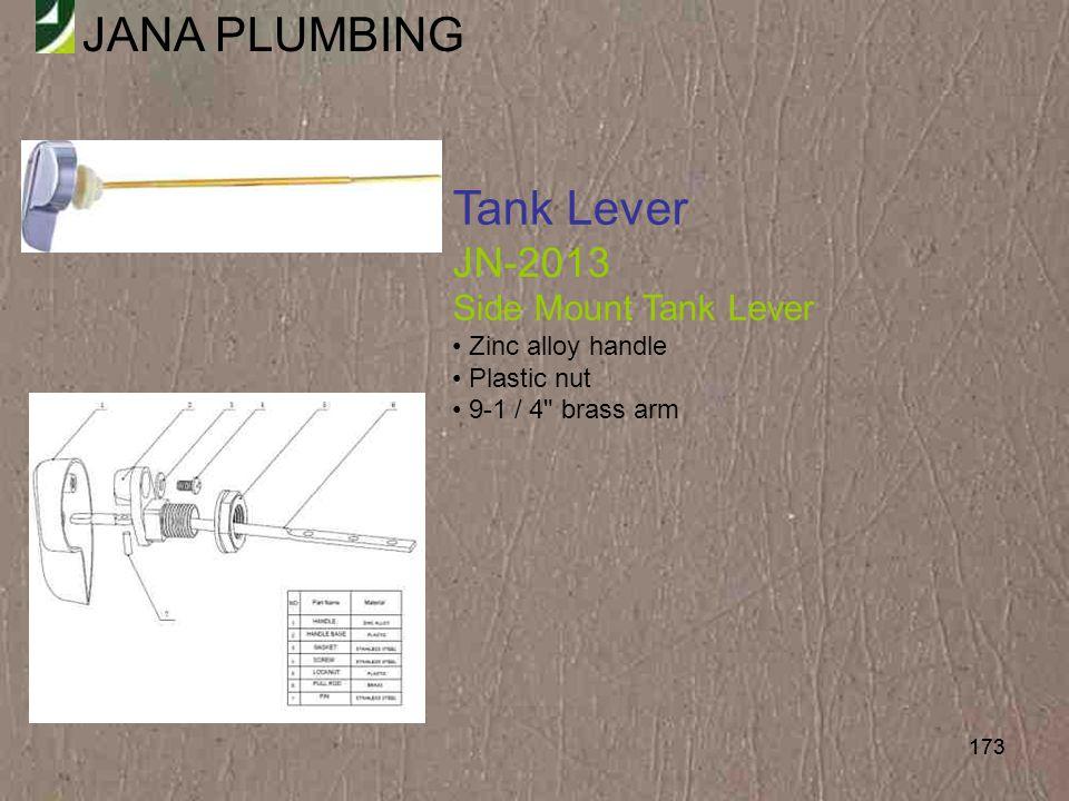 Tank Lever JN-2013 Side Mount Tank Lever Zinc alloy handle Plastic nut