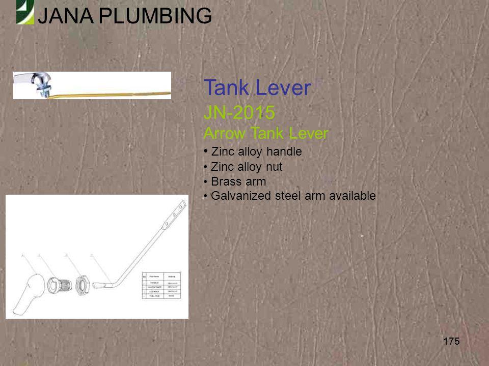 Tank Lever JN-2015 Arrow Tank Lever Zinc alloy handle Zinc alloy nut