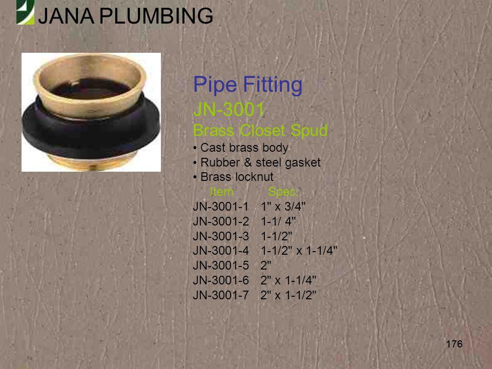 Pipe Fitting JN-3001 Brass Closet Spud Cast brass body