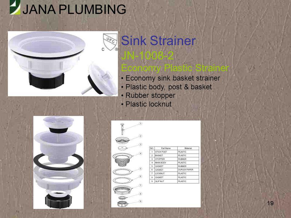 Sink Strainer JN-1008-2 Economy Plastic Strainer