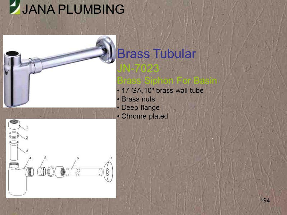 Brass Tubular JN-7023 Brass Siphon For Basin 17 GA,10 brass wall tube