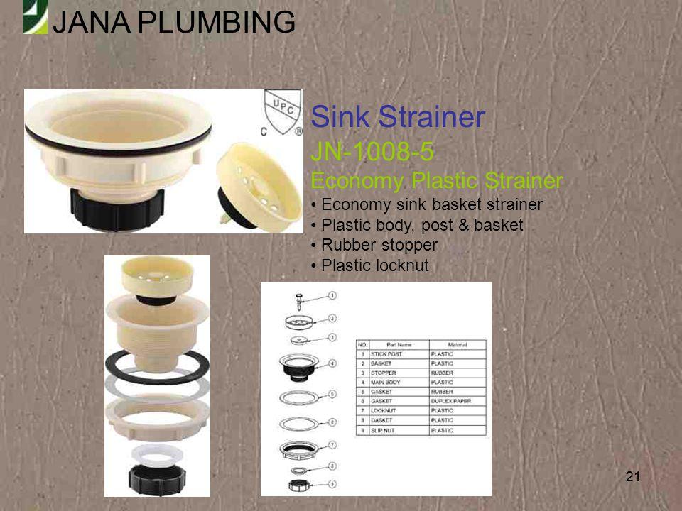 Sink Strainer JN-1008-5 Economy Plastic Strainer