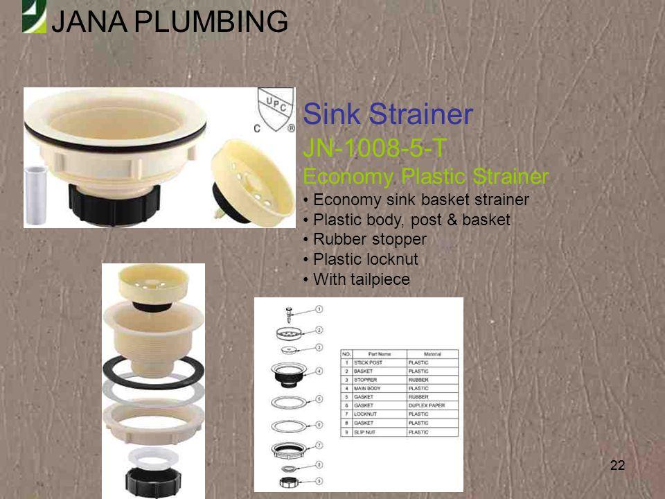 Sink Strainer JN-1008-5-T Economy Plastic Strainer