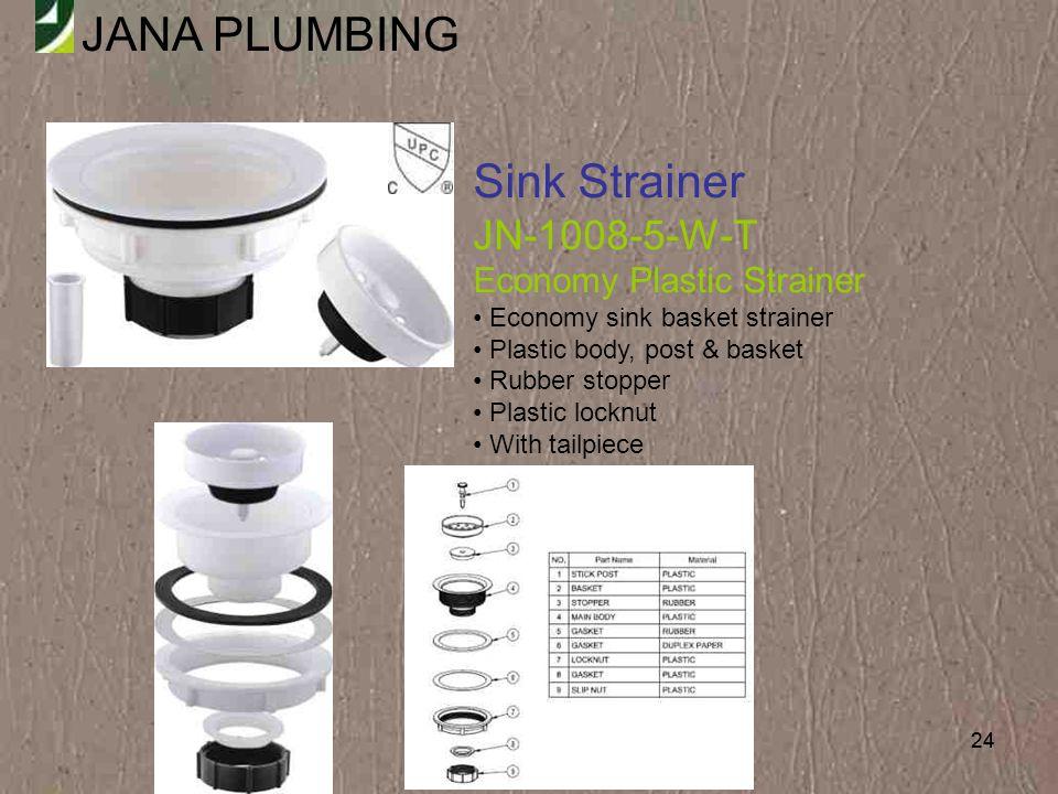 Sink Strainer JN-1008-5-W-T Economy Plastic Strainer