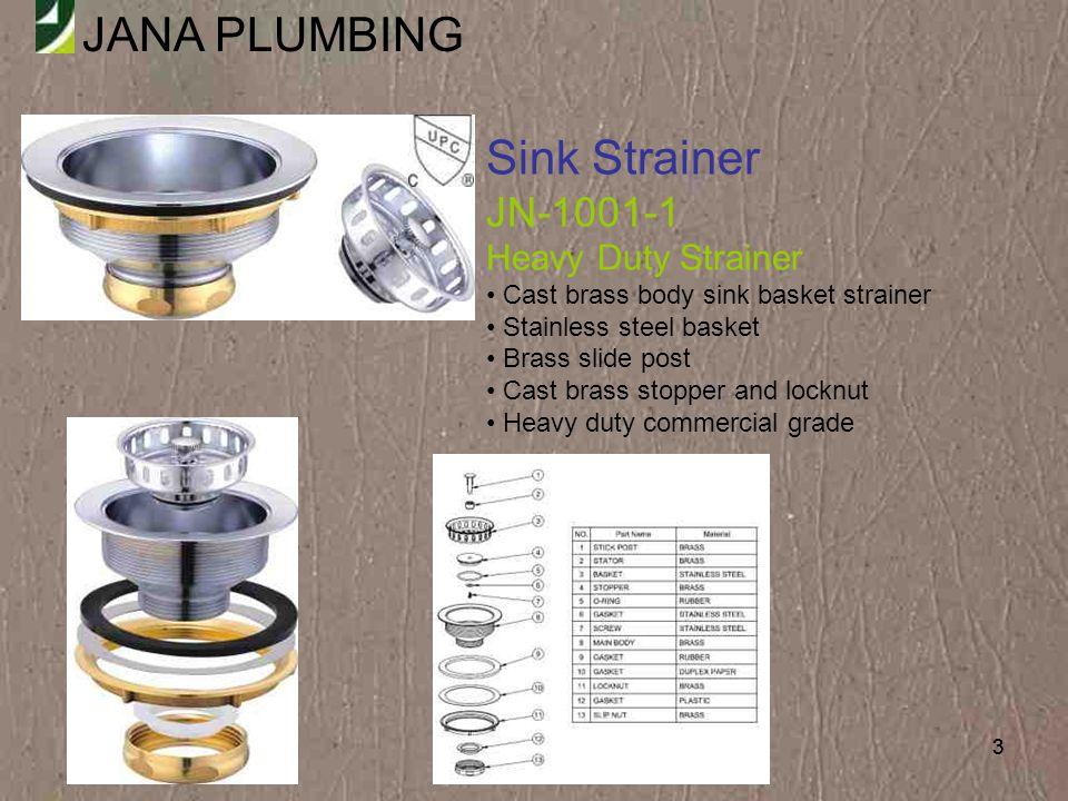 Sink Strainer JN-1001-1 Heavy Duty Strainer