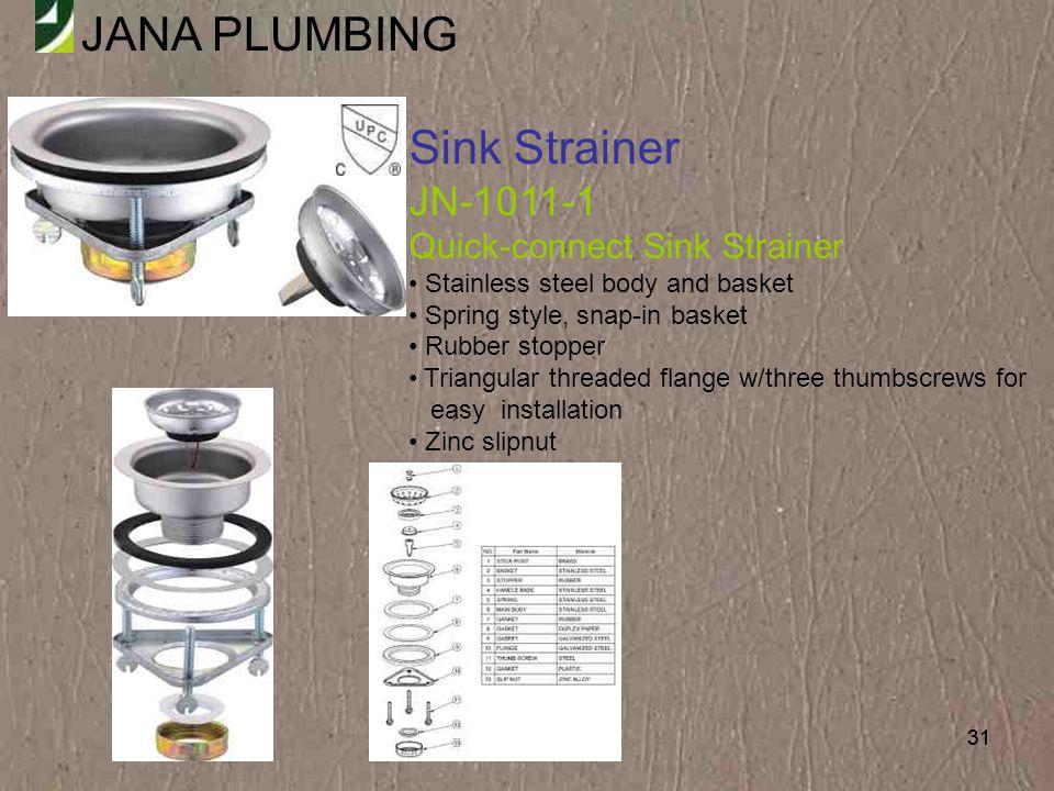 Sink Strainer JN-1011-1 Quick-connect Sink Strainer