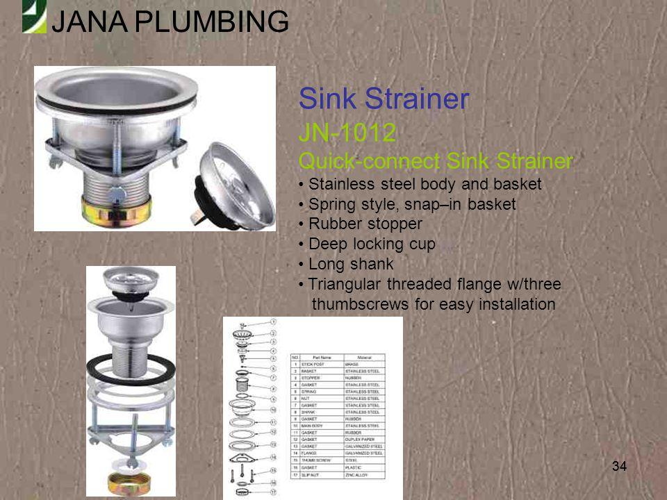 Sink Strainer JN-1012 Quick-connect Sink Strainer
