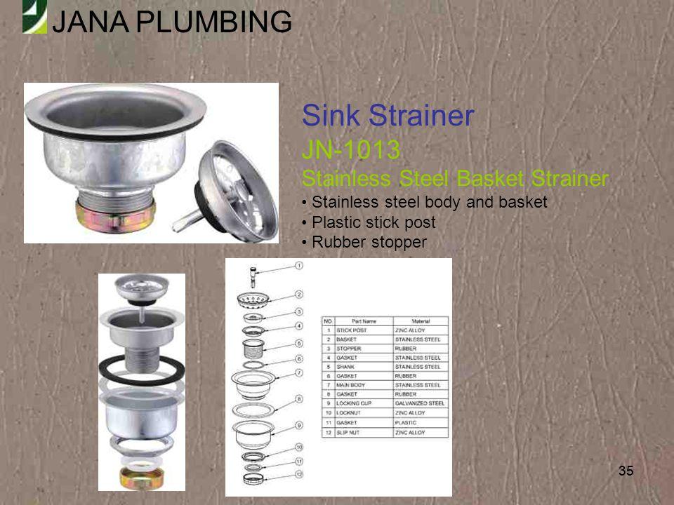 Sink Strainer JN-1013 Stainless Steel Basket Strainer