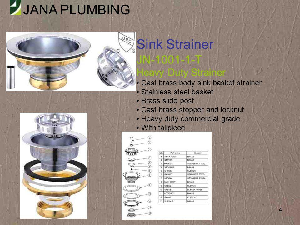 Sink Strainer JN-1001-1-T Heavy Duty Strainer