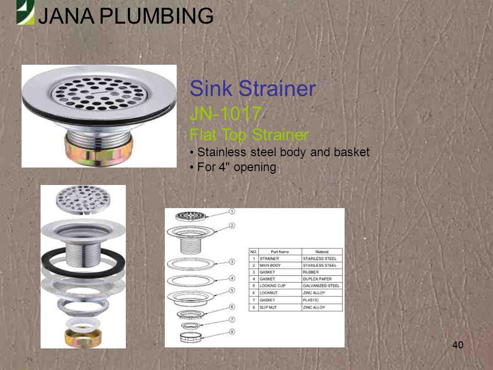 Sink Strainer JN-1017 Flat Top Strainer