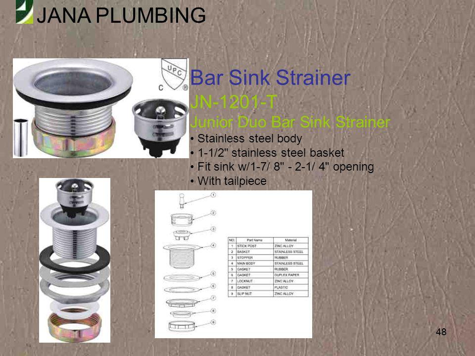 Bar Sink Strainer JN-1201-T Junior Duo Bar Sink Strainer