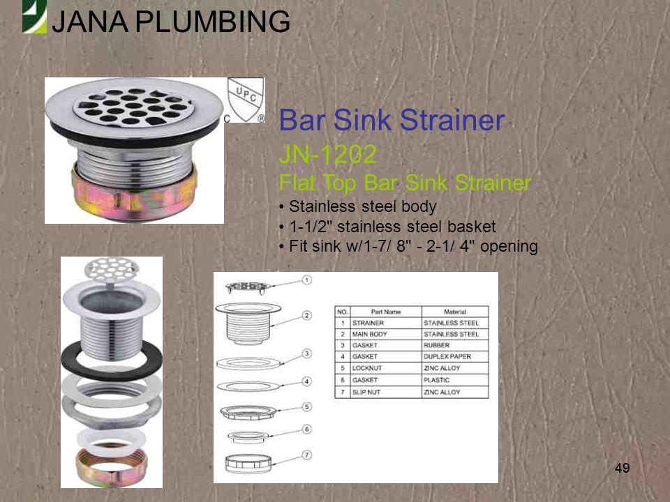 Bar Sink Strainer JN-1202 Flat Top Bar Sink Strainer