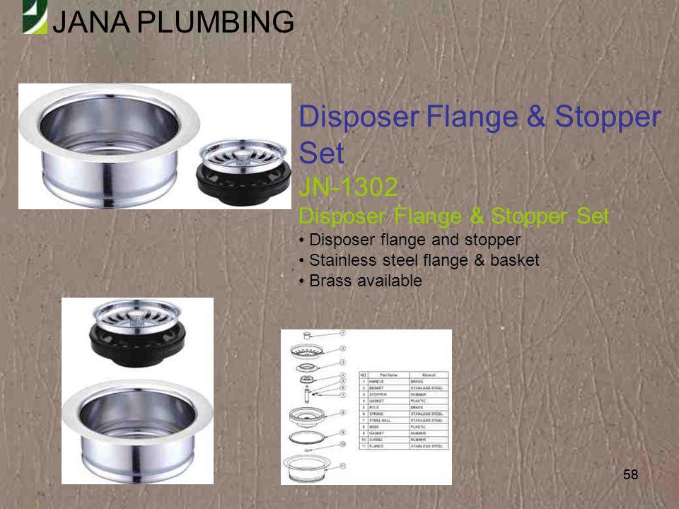 Disposer Flange & Stopper Set