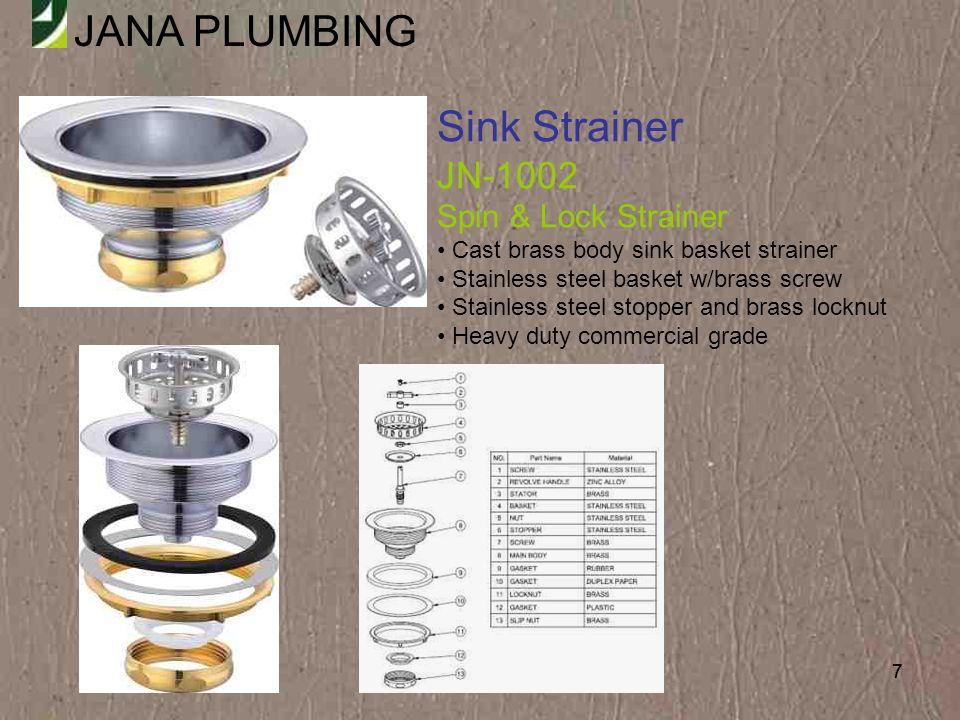 Sink Strainer JN-1002 Spin & Lock Strainer