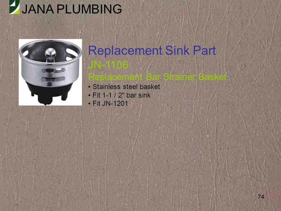 Replacement Sink Part JN-1106 Replacement Bar Strainer Basket