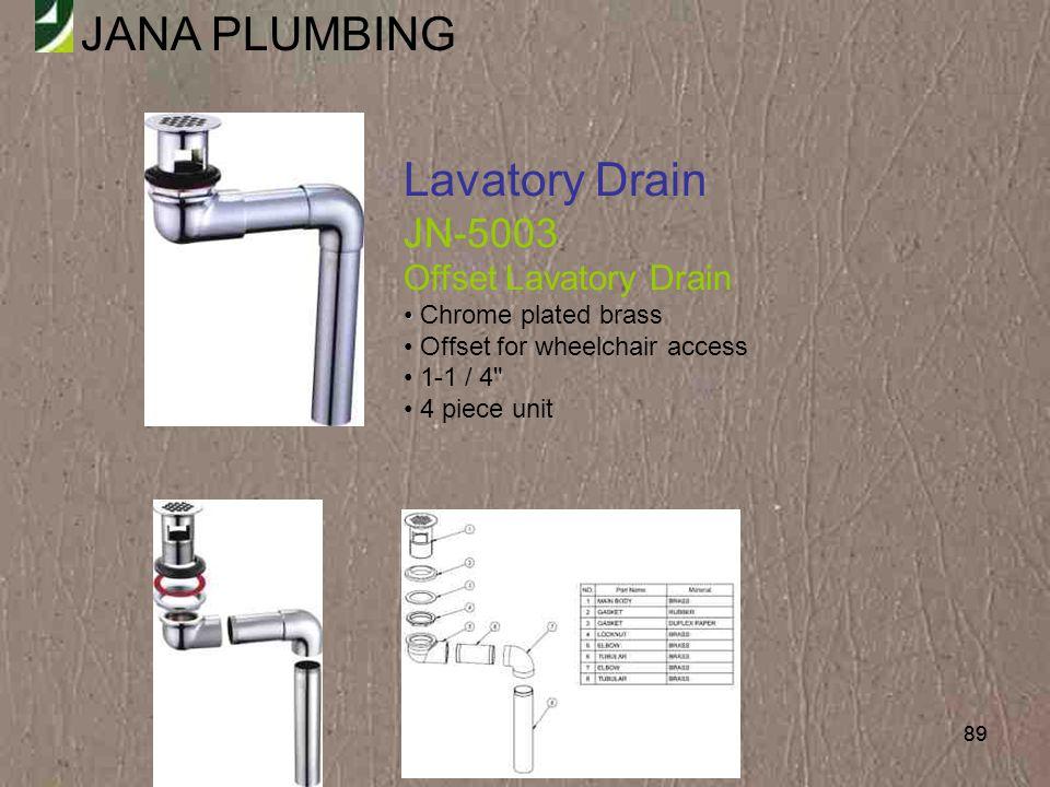 Lavatory Drain JN-5003 Offset Lavatory Drain Chrome plated brass