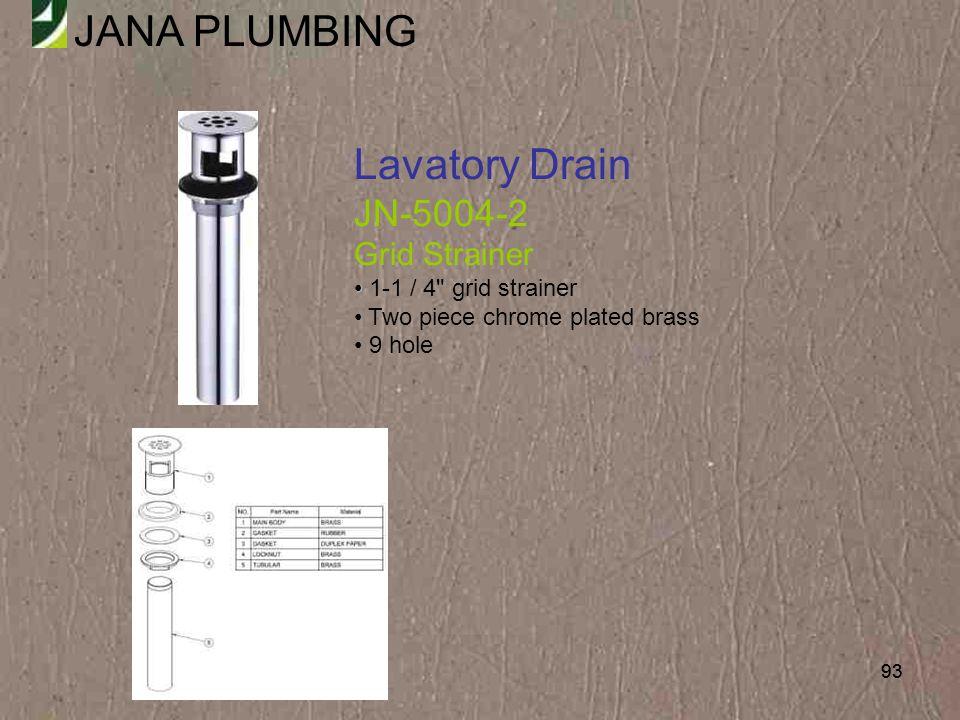 Lavatory Drain JN-5004-2 Grid Strainer 1-1 / 4 grid strainer