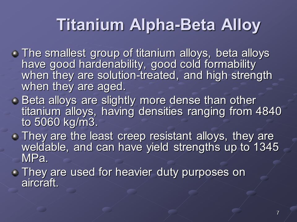 Titanium Alpha-Beta Alloy