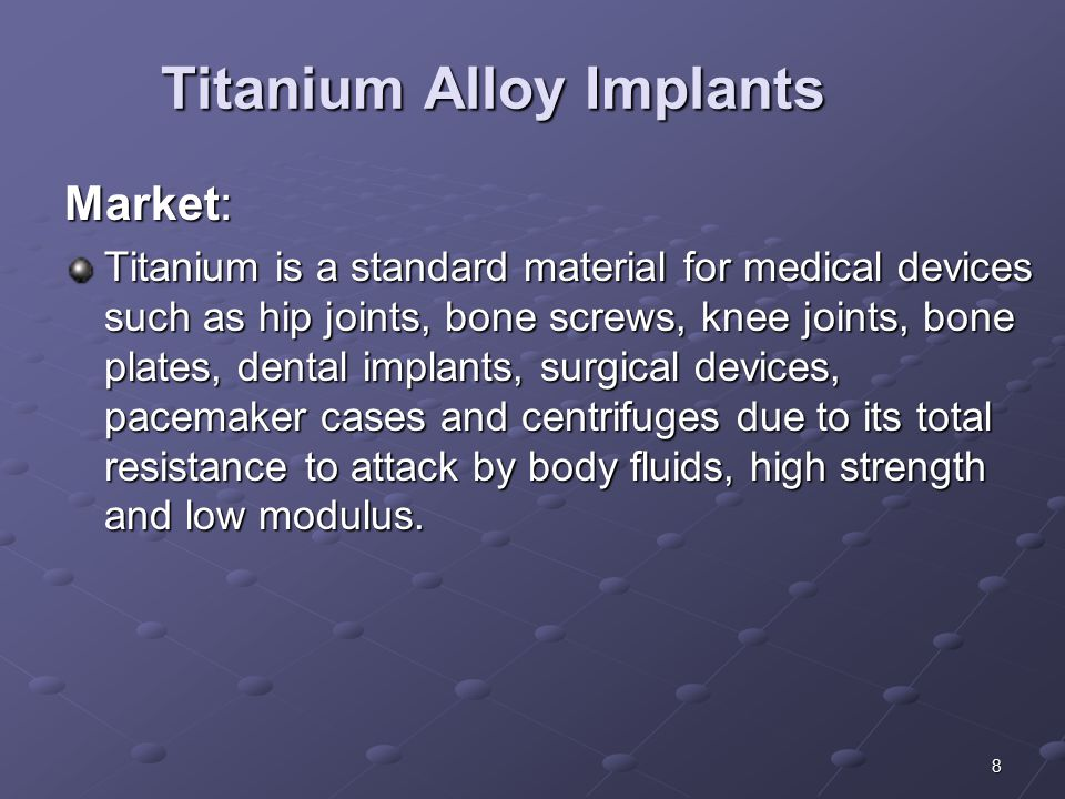Titanium Alloy Implants