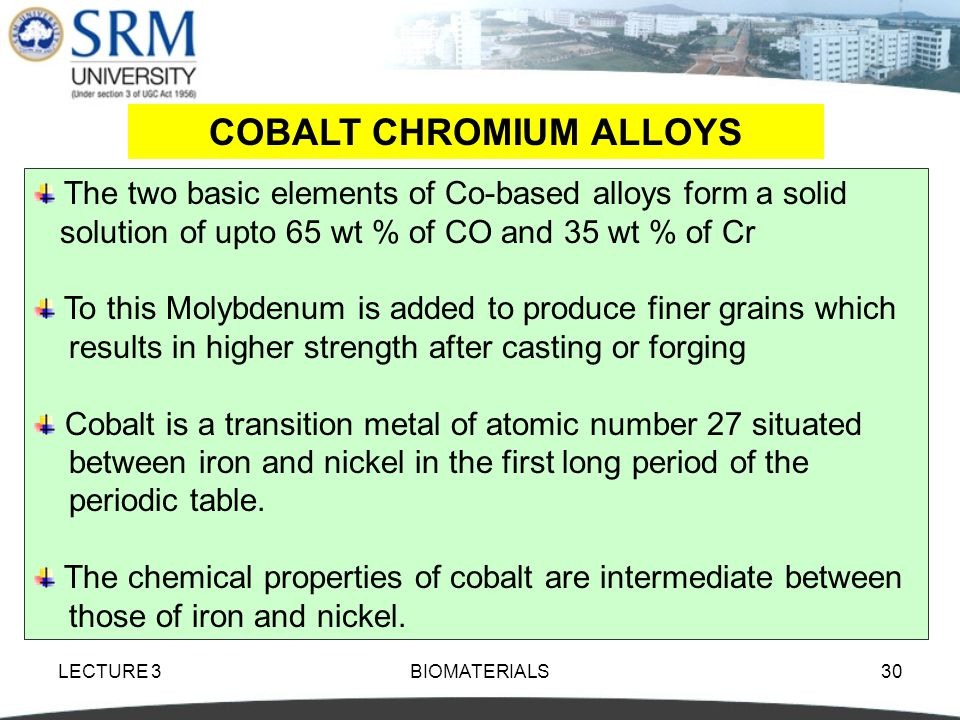 COBALT CHROMIUM ALLOYS