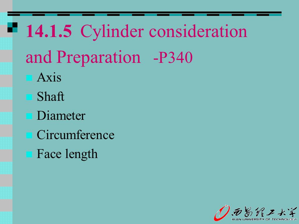 14.1.5 Cylinder consideration and Preparation -P340