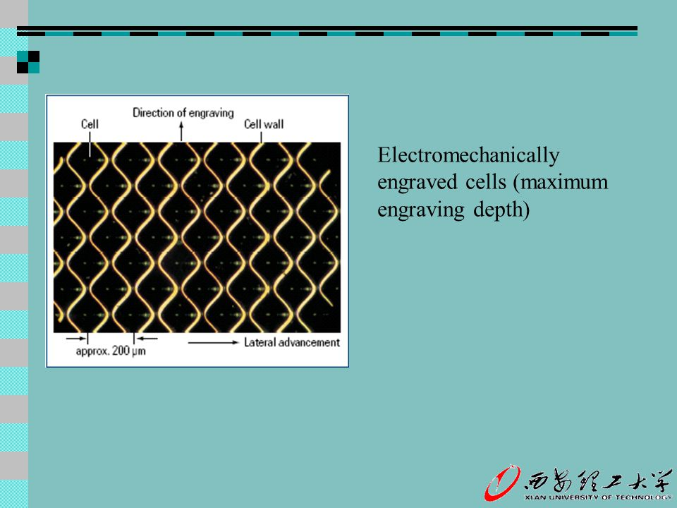 Electromechanically engraved cells (maximum engraving depth)