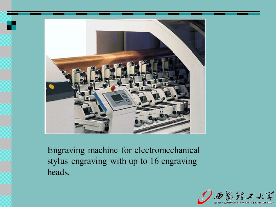 Engraving machine for electromechanical