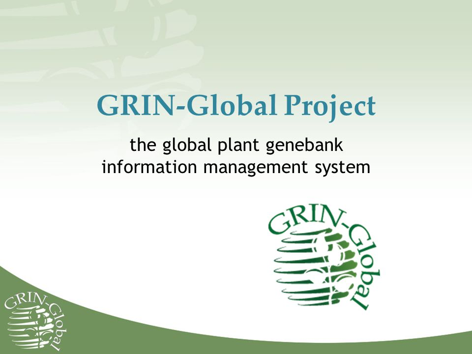 the global plant genebank information management system