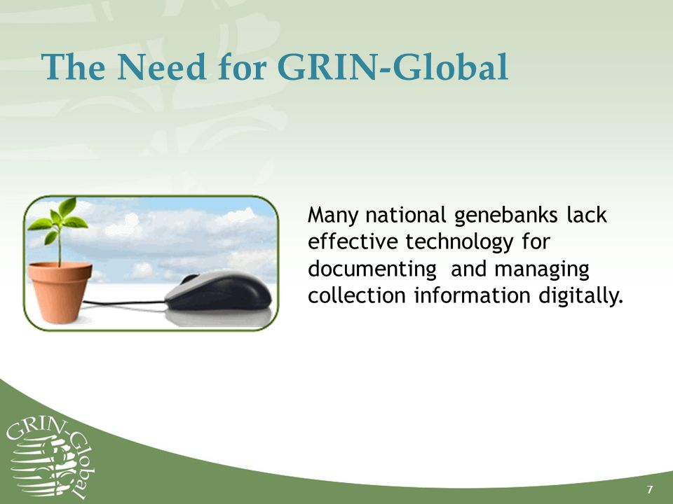 The Need for GRIN-Global