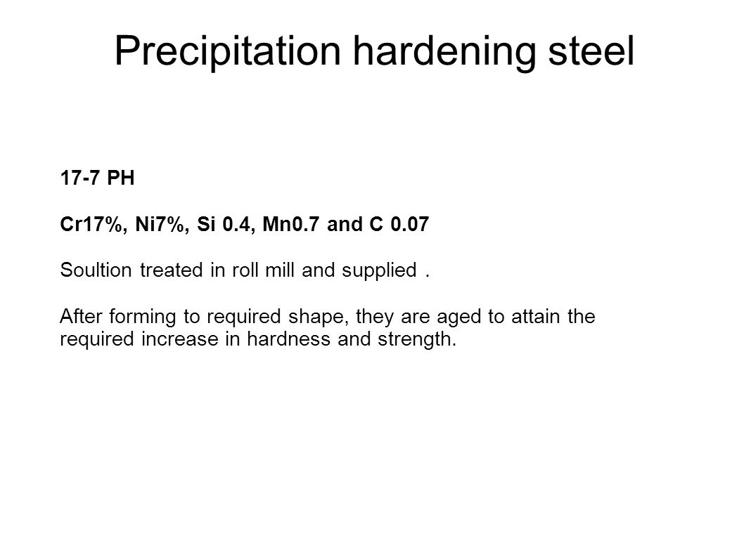 Precipitation hardening steel