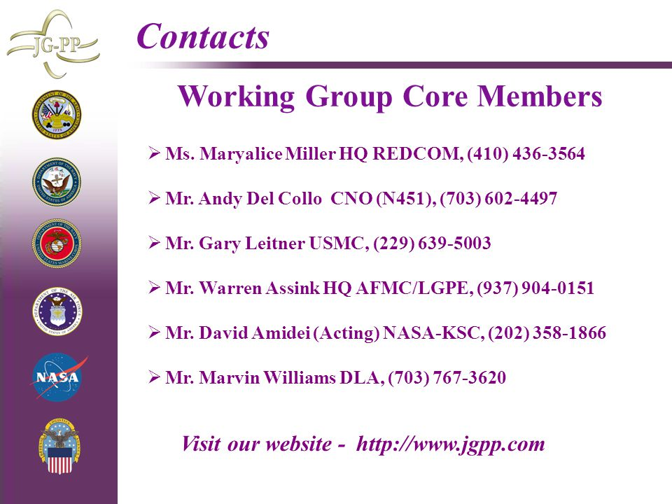Working Group Core Members