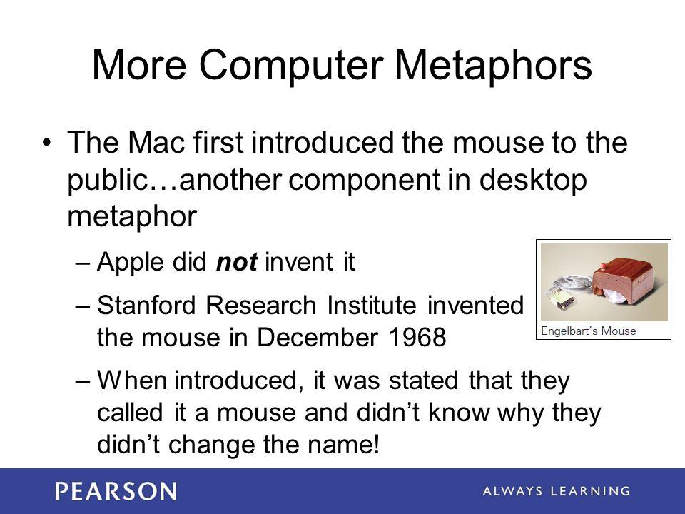 More Computer Metaphors