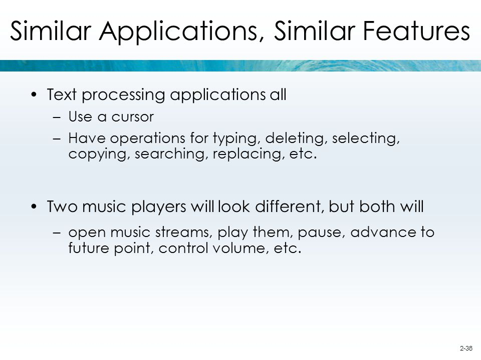 Similar Applications, Similar Features