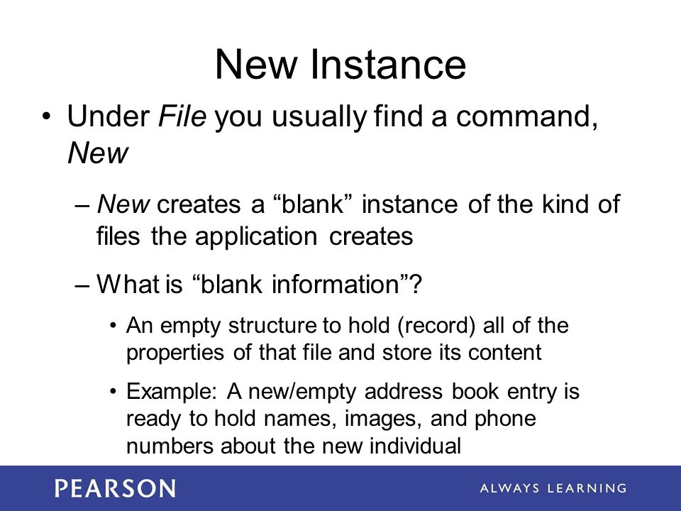 New Instance Under File you usually find a command, New